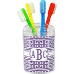 Greek Key Toothbrush Holder (Personalized)