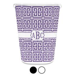 Greek Key Waste Basket (Personalized)