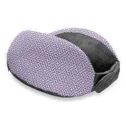 Greek Key Travel Neck Pillow (Personalized)