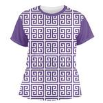 Greek Key Women's Crew T-Shirt (Personalized)