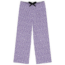 Greek Key Womens Pajama Pants (Personalized)