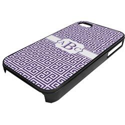 Greek Key Plastic 4/4S iPhone Case (Personalized)