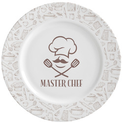 Master Chef Ceramic Dinner Plates (Set of 4) (Personalized)