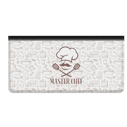 Master Chef Genuine Leather Checkbook Cover w/ Name or Text