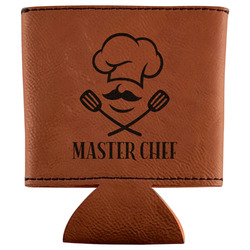 Master Chef Leatherette Can Sleeve (Personalized)