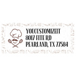 Master Chef Return Address Labels (Personalized)