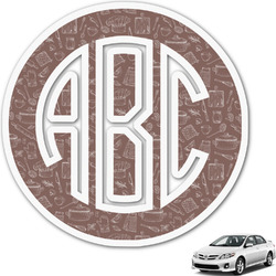 Master Chef Monogram Car Decal (Personalized)