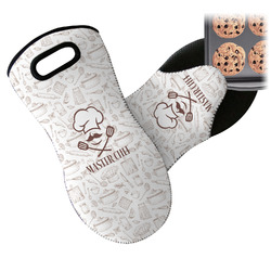 Master Chef Neoprene Oven Mitts w/ Name or Text
