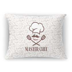 Master Chef Rectangular Throw Pillow Case (Personalized)