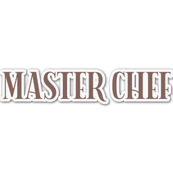 Master Chef Name/Text Decal - Custom Sizes (Personalized)