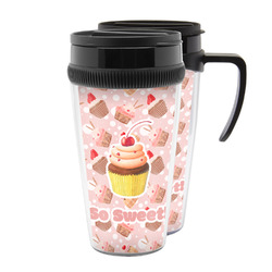 Sweet Cupcakes Acrylic Travel Mugs (Personalized)