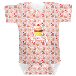 Sweet Cupcakes Baby Bodysuit (Personalized)
