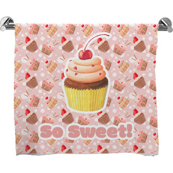 Sweet Cupcakes Bath Towel w/ Name or Text