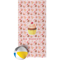 Sweet Cupcakes Beach Towel w/ Name or Text