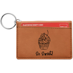 Sweet Cupcakes Leatherette Keychain ID Holder (Personalized)