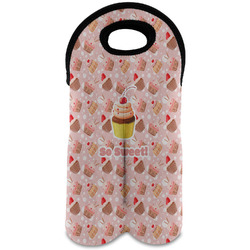 Sweet Cupcakes Wine Tote Bag (2 Bottles) w/ Name or Text