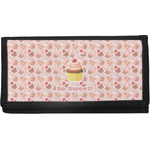 Sweet Cupcakes Canvas Checkbook Cover w/ Name or Text