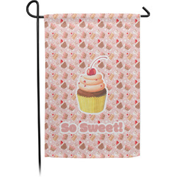 Sweet Cupcakes Garden Flag - Single or Double Sided (Personalized)