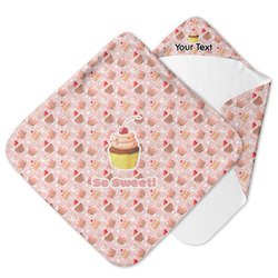 Sweet Cupcakes Hooded Baby Towel w/ Name or Text