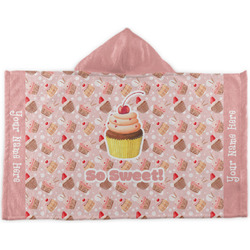 Sweet Cupcakes Kids Hooded Towel (Personalized)
