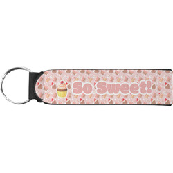 Sweet Cupcakes Neoprene Keychain Fob (Personalized)