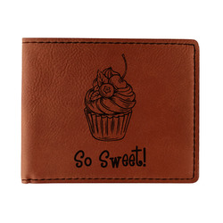 Sweet Cupcakes Leatherette Bifold Wallet (Personalized)