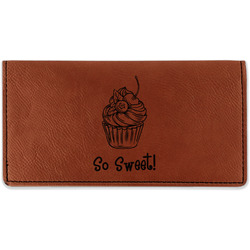 Sweet Cupcakes Leatherette Checkbook Holder (Personalized)