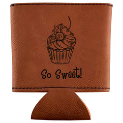 Sweet Cupcakes Leatherette Can Sleeve (Personalized)