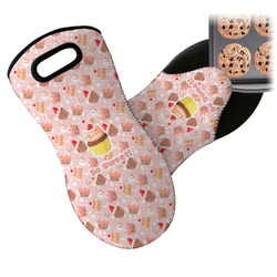 Sweet Cupcakes Neoprene Oven Mitts w/ Name or Text