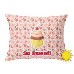 Sweet Cupcakes Outdoor Throw Pillow (Rectangular) w/ Name or Text