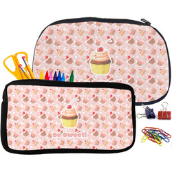 Sweet Cupcakes Neoprene Pencil Case (Personalized)