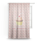 Sweet Cupcakes Sheer Curtains (Personalized)