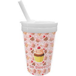 Sweet Cupcakes Sippy Cup with Straw (Personalized)