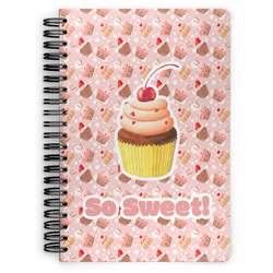 Sweet Cupcakes Spiral Notebook (Personalized)
