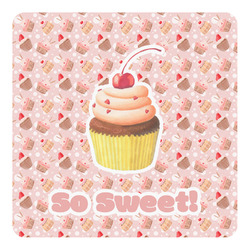 Sweet Cupcakes Square Decal (Personalized)