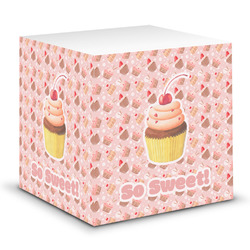 Sweet Cupcakes Sticky Note Cube w/ Name or Text