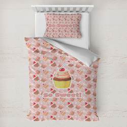Sweet Cupcakes Toddler Bedding w/ Name or Text