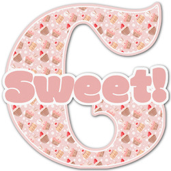 Sweet Cupcakes Name & Initial Decal - Custom Sized (Personalized)