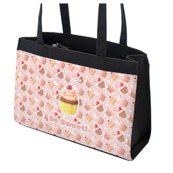 Sweet Cupcakes Zippered Everyday Tote w/ Name or Text