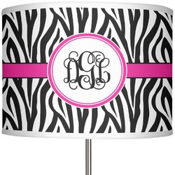"Zebra Print 13"" Drum Lamp Shade (Personalized)"