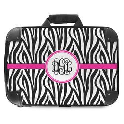Zebra Print Hard Shell Briefcase (Personalized)