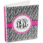 Zebra Print 3-Ring Binder (Personalized)