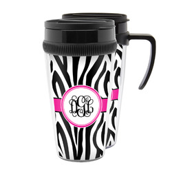 Zebra Print Acrylic Travel Mugs (Personalized)