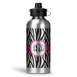 Zebra Print Water Bottle - Aluminum - 20 oz (Personalized)