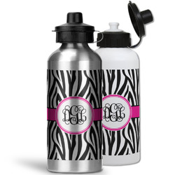 Zebra Print Water Bottles- Aluminum (Personalized)
