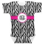 Zebra Print Baby Bodysuit (Personalized)