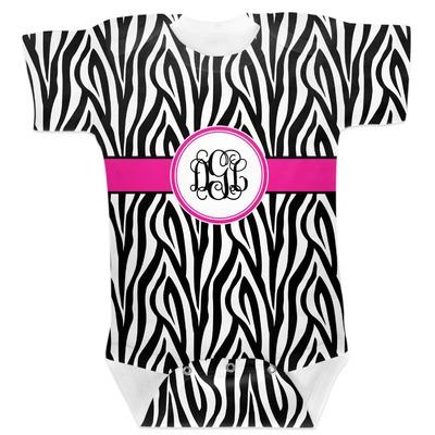 Zebra Print Baby Bodysuit 6-12 (Personalized)