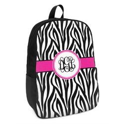 Zebra Print Kids Backpack (Personalized)
