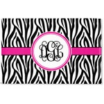 Zebra Print Woven Mat (Personalized)