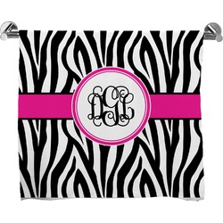Zebra Print Full Print Bath Towel (Personalized)